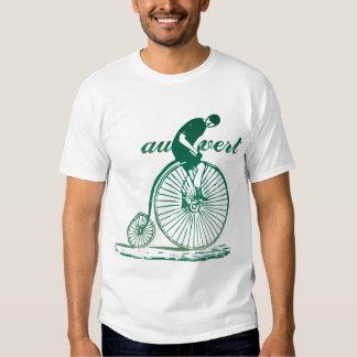 Camiseta de la bicicleta del vintage de Vert del Remera