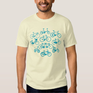 Camiseta de la bicicleta del vintage poleras