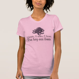 Camiseta de la biología de los hechos del pulpo