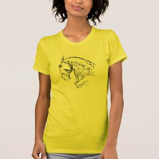 Camiseta de la cabeza de caballo del Dressage Polera