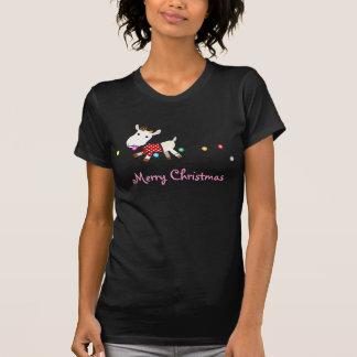 Camiseta de la cabra del navidad - personalizable playeras