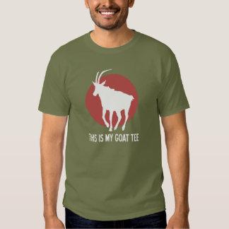 Camiseta de la cabra polera
