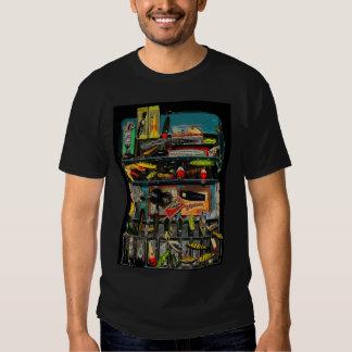 Camiseta de la caja de aparejos del vintage playeras