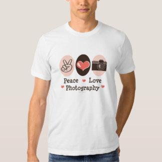 Camiseta de la cámara de la fotografía del amor de playeras
