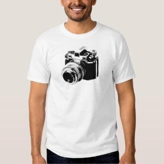 Camiseta de la cámara del vintage camisas