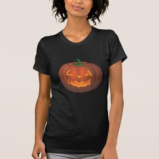 Camiseta de la camisa de la Jack-o-linterna de la