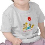 Camiseta de la camiseta del cumpleaños de los anim