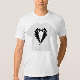 Camiseta de la camiseta del smoking playera