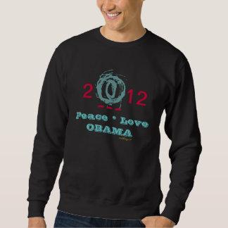 Camiseta de la campaña de OBAMA 2012 del amor de