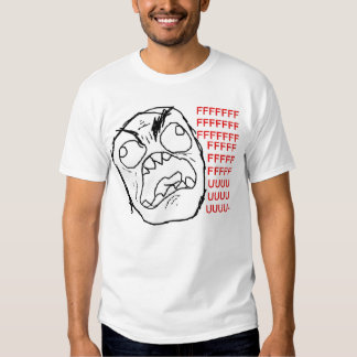 Camiseta de la cara de la rabia poleras