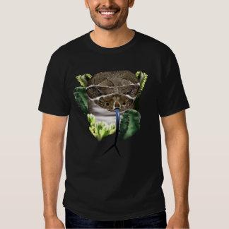 Camiseta de la cara de la serpiente del traqueteo playeras