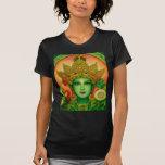 Camiseta de la cara de Tara verde de la diosa