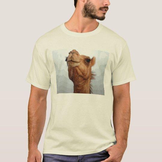 Camiseta de la cara del camello