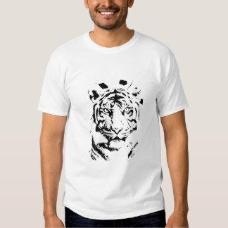 Camiseta de la cara del tigre camisas