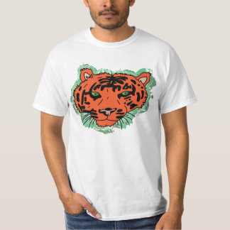 Camiseta de la cara del tigre de la envidia playeras