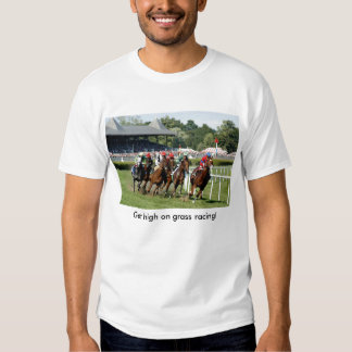 Camiseta de la carrera de caballos con la imagen remera