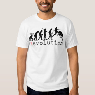 Camiseta de la carta de la evolución de la poleras