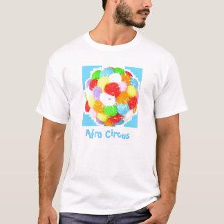 Camiseta de la cebra del Afro del lunar