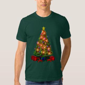 Camiseta de la chispa del árbol de navidad remera