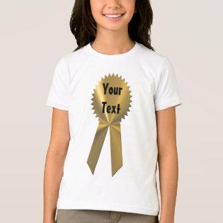 Camiseta de la cinta de la medalla de oro del