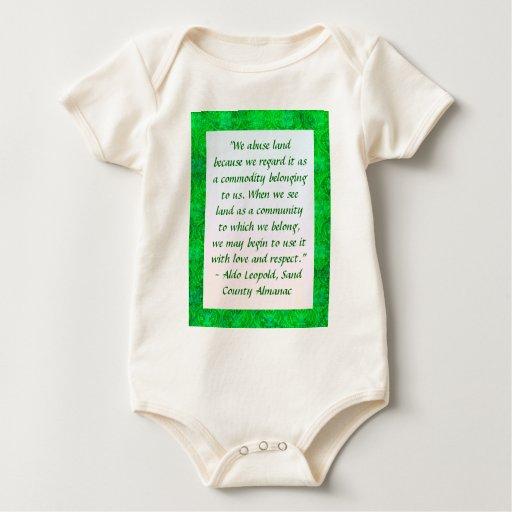 Camiseta de la cita de Aldo Leopold