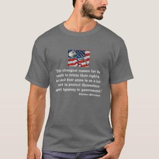 Camiseta de la cita de Jefferson