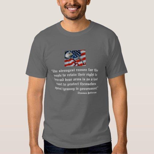 Camiseta de la cita de Jefferson Remeras