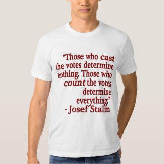 Camiseta de la cita de José Stalin Playeras