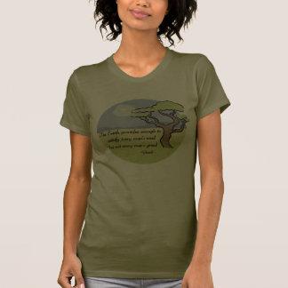 Camiseta de la cita de la tierra de Gandhi Polera