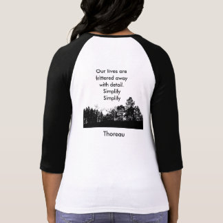 Camiseta de la cita de Thoreau