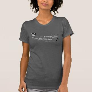 Camiseta de la cita del arte del gato de Cheshire Playeras
