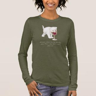 Camiseta de la cita del chocolate y del vino del