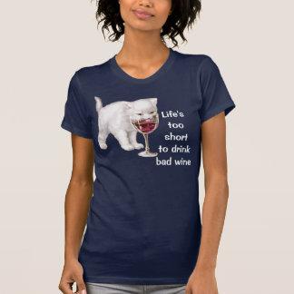 Camiseta de la cita del vino
