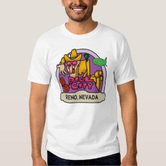 Camiseta de la ciudad de los dados polera