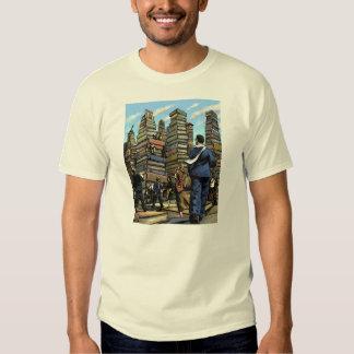 Camiseta de la ciudad del libro remera