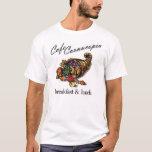 Camiseta de la cornucopia del café