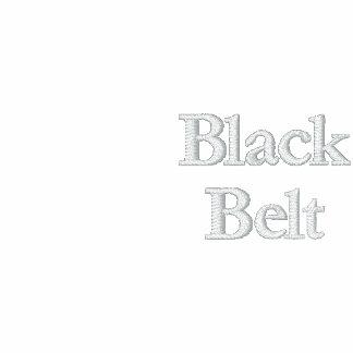 Camiseta de la correa negra sudadera bordada con capucha