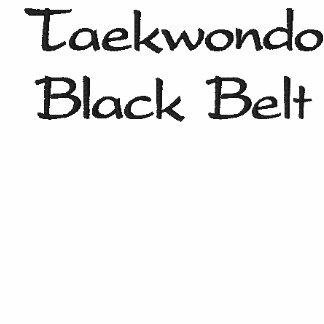 Camiseta de la correa negra del Taekwondo Sudadera Bordada Con Capucha