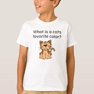 Camiseta de la criba del gato poleras
