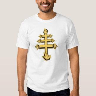 Camiseta de la cruz papal playera