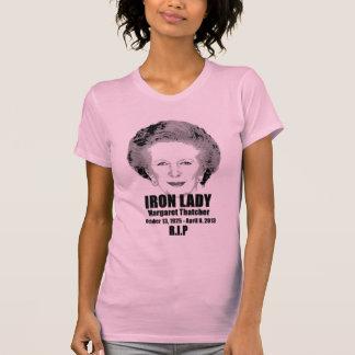 Camiseta de la dama de hierro R.I.P de Margaret Polera