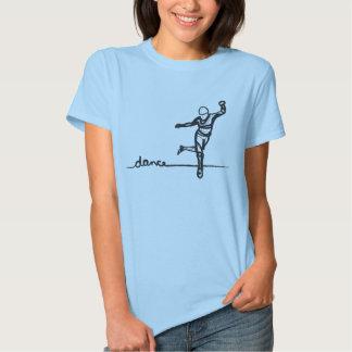 Camiseta de la danza de golpecito (cabida) remeras