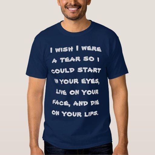 Camiseta de la declaración - coja la línea playera