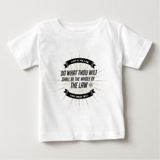 Camiseta de la declaración de la CA Thelema Playera Para Bebé
