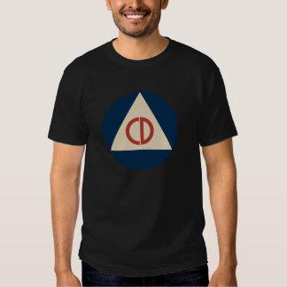 Camiseta de la defensa civil remera