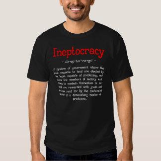 Camiseta de la definición de Ineptocracy (negro) Remeras