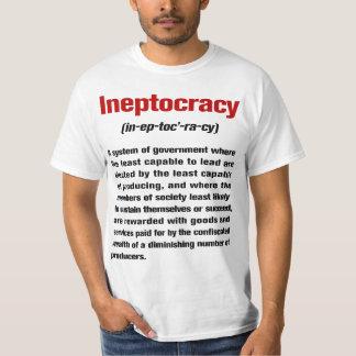 Camiseta de la definición de Ineptocracy Playera