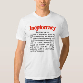 Camiseta de la definición de Ineptocracy Playeras