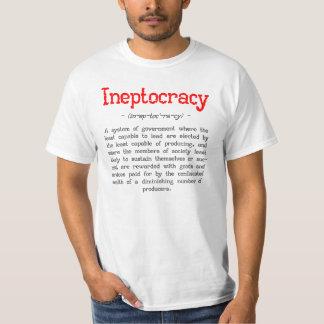 Camiseta de la definición de Ineptocracy Poleras