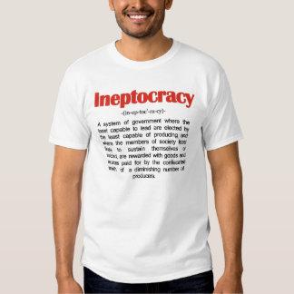 Camiseta de la definición de Ineptocracy Remeras